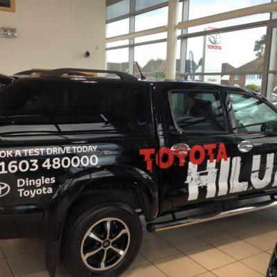 Dingles Norwich Toyota Hilux Vehicle Graphics 1
