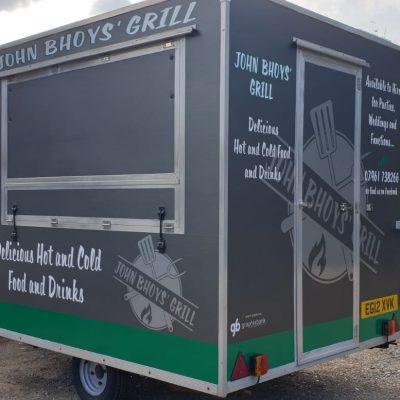 Food trailer vinyl livery norwich 3