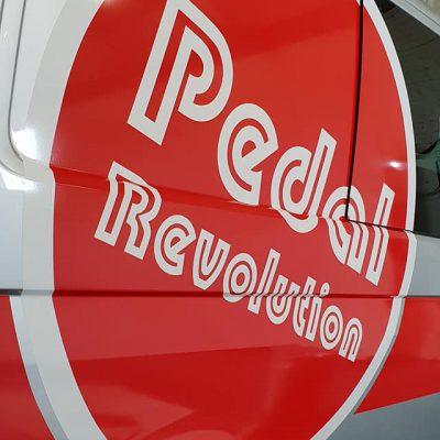 Pedal Revolution van signage norfolk 2