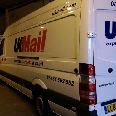 UK Mail Van Signage Norwich 1