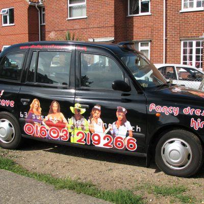 black cab advertising vinyl graphics 1