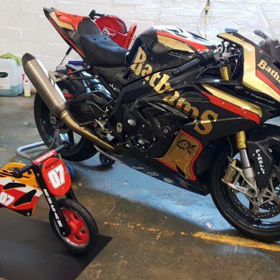 custom motorbike vinyl graphics loddon 4