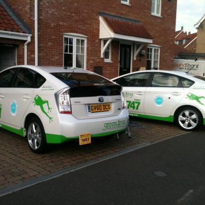 greenfrog taxi livery loddon 1